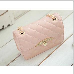spring summer new style 2014 pink cute fashion sling bag(China (Mainland))
