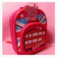 Peppa pig infant child student school bag assuming pig backpack pink pig backpack