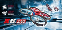 So big quadcopter SYMA X6 4CH 2.4G, 3 AXIS gyro,360 Eversion,two mode selection,6 axis stabilization system rc helicopter toy