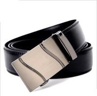 new 2014 Pure first layer of cowhide male strap genuine leather automatic buckle belt y038  men belt brand metal belts luxury