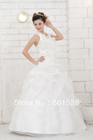 Free shipping  Wholesale 2014 New Halter straps Qi wedding dress Slim thin NO: 2096