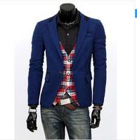 2014 Men's clothing blazer outerwear suit slim casual suits men blazer 4 color M~XXL