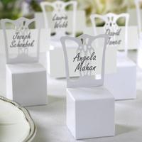 100pcs/lot Wedding White Chair Candy Box Wedding Gift Box Wedding Favors