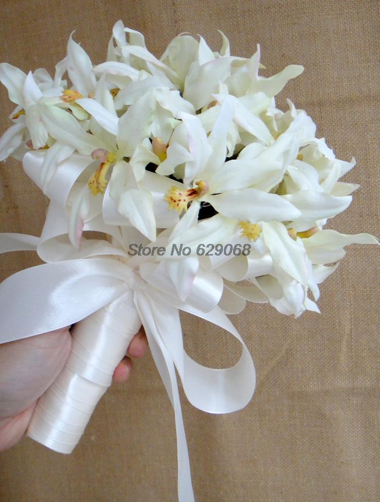 White Orchid Flower Bouquet Bouquets White Orchid