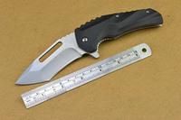 Free shipping NEW Stone wash G10 Handle Pocket Folding knife Z06