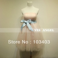 2014 spring lovely pink princess bridesmaid dress party dress 031F