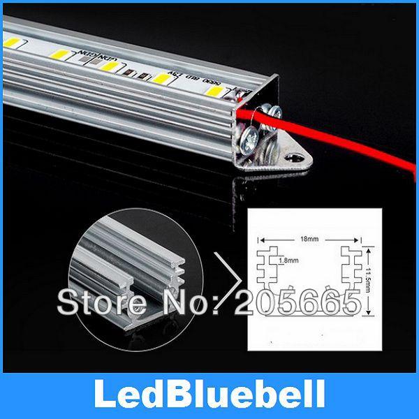 LED Light bar with Accessories plug , 72 LEDs/meter , SMD5730, 12V Input, Rigid strip light U-Aluminum type,used for cabinet(China (Mainland))