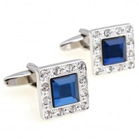 Promotion: Crystal Cufflink 2pairs Wholesale Free Shipping