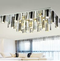 Free shipping modern rectangle crystal ceiling lamp, L750*750*250mm LED crystal lighting