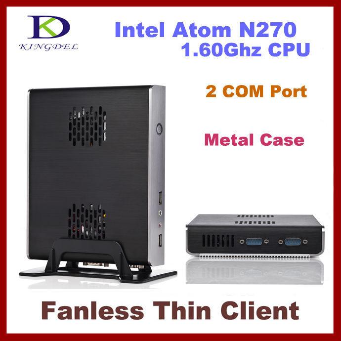 NEW thin client Mini Industrial pc, Intel Atom N270 1.6Ghz, Dual Core, 2 COM, 1GB RAM, 8GB SSD ,Win XP, WIFI, 720P(Hong Kong)