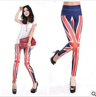 2014 Women fashion UK m word flag Leggings nine points  Ladies Leggings Slim New Pants Free Shipping