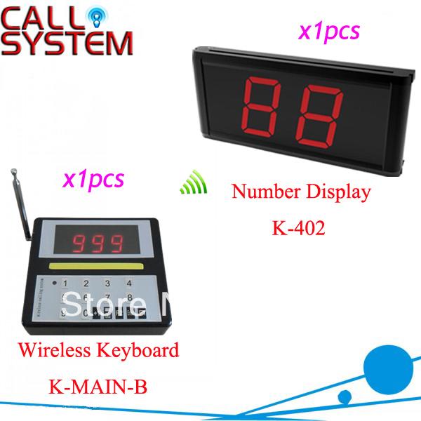Kitchen Call Waiter System K-MAIN+402 with 1 pcs keypad and 1 pcs 2-digit number display Free Shipping(China (Mainland))