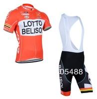 2014 NEWS! Free shipping+Breathable Polyester+pad+orange LOTTO Bike apparel/Clothes bike Cycling wear/Cycling Jersey+BIB SHORTS