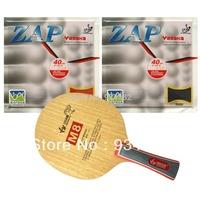 Pro Table Tennis (Ping Pong) Combo Paddle / Racket: Sanwei M8 + 2 Pcs Yasaka ZAP BIOTECH 40mm (H36-38)