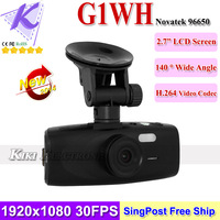 2014 New  G1WH Car DVR Registrar Novatek 96650 CMOS Sensor 1080P 30FPS Full HD +140 Degree Wide Angle + Night Vision + G-sensor