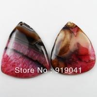 K1408 Free Shopping Beautiful Romantic Druzy Geode Agate pendant bead 2pcs/lot
