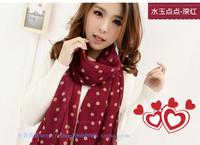 Hydrowave 2013 dot chiffon silk scarf cape