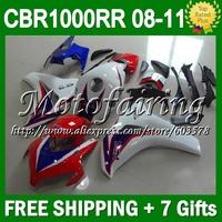 7gifts For HONDA CBR1000RR NEW Blue 2008 2009 2010 2011 CBR 1000 1000RR CL8199 CBR1000 RR Red white blue 08 09 10 11 NEW Fairing