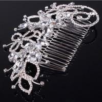 Beautiful Elegant Flower Rhinestone Hair Comb Stick Wedding Jewelry Bridal Clip