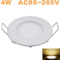 50pcs/lot! Newest high brightness LED Panel Lights 4W ceiling lighting SMD2835 Warm White AC85-265v,Free Shipping!!!
