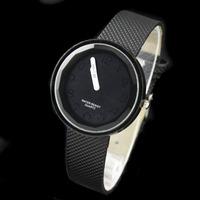 5PCS Minimalist Design Light Color figures Dial Stylish New Fashion Black Solid Candy Color Ladies Quartz Wrist Watch