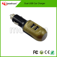 Free shipping by DHL, Exclusive design dual usb car charger 100PCS/lot free shipping DHL