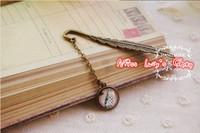 Free ship1lot=12pcs/Korean stationery kawaii cute metal bookmark  creative vintage bookmarks sq03  school supples
