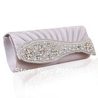 Gorgeous Silk With Rhinestone Pearl Clutches/Evening Handbags For women EJ15#