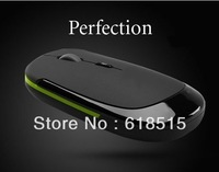 Free Shipping (100pcs) Ultra Thin USB 2.0 Wireless Computer Mouse Slim Mice 2.4G Receiver for Laptop Desktop DPI adjustable
