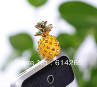 New 2014 Pineapple 3.5mm Dust Plug Earphone Plug For Iphone & Ipad & Samsung& HTC,Wholesales 10PCS/lot 6390