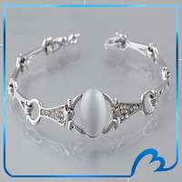 Nobel Opal & Crystal Charm Bracelets & Bangles For Women Platinum Plated High Quality Fashion Bracelet 17cm Free Shipping