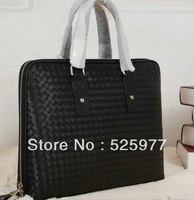 New men's Ardoise Intrecciato VN Briefcase 1153032 Black  in Real leather totes Handbags