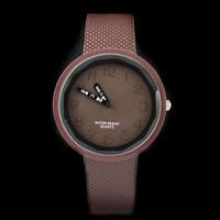 5PCS Minimalist Design Light Color figures Dial Stylish New Fashion Brown Solid Candy Color Ladies Quartz Wrist Watch
