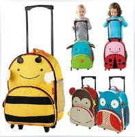 free shipping animal multiple-fuction kids rolling luggage Children Trolley school bag suitcase travel bag Mochila Para criancas