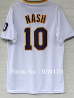 New Material 2013-2014 Christmas Day Los Angeles #10 Steve Nash Men's Stitched Embroidery Basketball Jersey Free Shipping, S-2XL