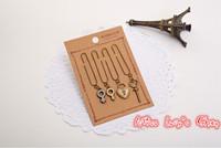 Free ship 1lot=40pcs/korean stationery kawaii cute vintage bookmarks  metal clip bookmark school zakka gift  supplies