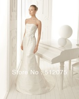 2014 Best Seller Mermaid Wedding Dresses Strapless Satin Court Train Sexy Bridal Weddings & Events Gowns