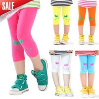 Free shipping!NEW 2014 Children clothing wholesale girls leggings summer kids kitty leisure fashion shorts 5pcs/lot A017