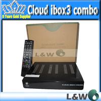 newest receivers cloud ibox 3 twin tuners DVB-S/S2 Sat Tuner dvb-T/C tuner built-in WiFi internal cloud ibox III free shipping