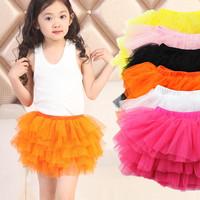 2014 children's clothing mini skirts princess skirts cute layered pleated little girl skirts