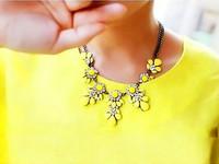 Fashion Black Chain Flower Choker Collar Necklace Jewelry for Women Mujer Statment Gargantilha Colares Femininos Bijoux