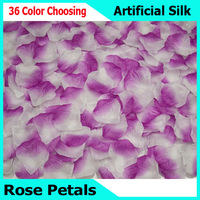 HOT SALE!!! 5000PCS Romantic Artificial Silk Rose Petals for Wedding Decoration, Rose Artificial Petal with 37 Colors Choosing