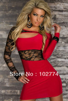 European and American trade supply sexy lingerie lace long-sleeved dress Babydolls N110