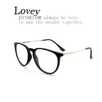 Lovey new fashion myopia optical eyeglasses frame woman retro vintage oversized plain mirror man unisex metal leg plastic frame