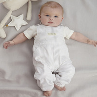 the 2014 new baby boy summer clothing set /the children's baby suits (white t-shirt+overalls) baby clothes free shipping