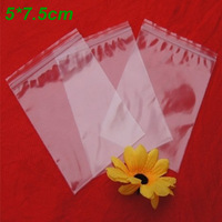 Wholesale 1000Pcs/Lot 5*7.5cm Clear Self Seal Reclosable Zipper Plastic Packaging Bag, Ziplock Zip Lock Bag Package