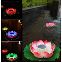 Free shipping lotus light led solar light outdoor ,lotus flower lamp garden decoration night light multicolor 5pcs/lot