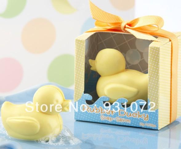 Free FedEx shipping 100pcs/lot Little Duck Shape Handmade Soap Wedding Gift, Baby Shower Hand Soaps(China (Mainland))