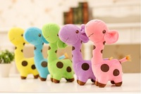 Hot Sell Size 25 cm Cute  Giraffe Plush Toys For Girls Birthday Gift for Kids  Toys. Free Shipping.3pieces/lot