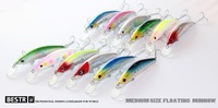 2014 good fishing lures,85mm,15g dive 2.5m floating.each lot 12pcs